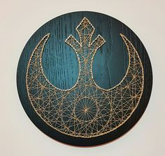 Handmade Star Wars string art 'Rebel Alliance' Gold thread on a black stained Oak veneer background. Custom requests are welcomed please message me with a description of what you would like.   eBay!