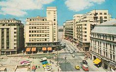 Cal Victoriei intersectia cu Ion Campineanu (fost 13 Decembrie) in 1970 Bucharest Romania, Old City, Timeline Photos, Verona, Childhood Memories, Times Square, Tourism, Amen, Buildings
