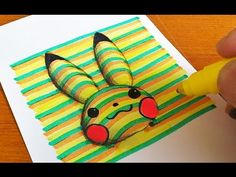 How to Draw 3D Pikachu (Pokémon) Coloring Pages   Learning Colouring Videos for Kids - YouTube