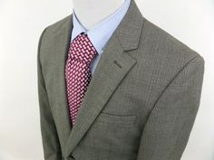 ANDREW FEZZA Men's 2 Button Plaid Jacket Sport Coat Blazer 40 L Brown Gray #AndrewFezza #TwoButton