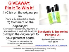 GIVEAWAY - Pin It To Win It: To Win This Item from SymbolicImports.etsy.com - follow the instructions: Click on ORIGINAL pin, comment leaving a way to contact you, REPIN the ORIGINAL Pin! Contest ends 7/18/12 @ 11:59pm EST. Winner announced 7/19/12.
