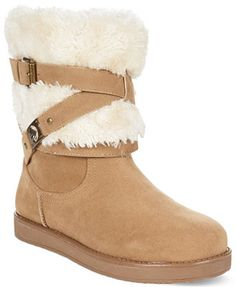 G by GUESS Women's Alta Faux-Fur Cold Weather Booties - Macy's