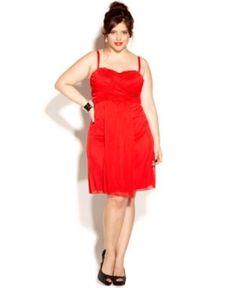 Love Squared Plus Size Dress Spaghetti-Strap Empire A-Line.jpg