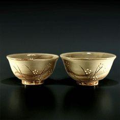 japanese rice bowls.  Hagi yaki ware.