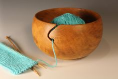 Knitting bowl (Bradford Pear): 8in x 4in (20cm x 10cm)