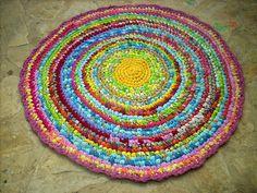 crocheted rag rug by osnat.ganor, via Flickr
