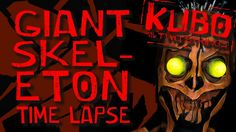 Kubo and the Two Strings Giant Skeleton Body Paint Time Lapse