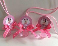 Minnie Mouse douche sucettes - faveurs de douche de bébé Minnie Mouse