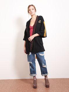 dixie kimono nero applicazioni 99 euro