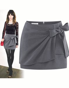 Hollywood Inspired Ribbon Knit Zipper Skirt – One Size [ 78545 ] ✈ Ship Next Working Day ✈ - $59.00 #onselz