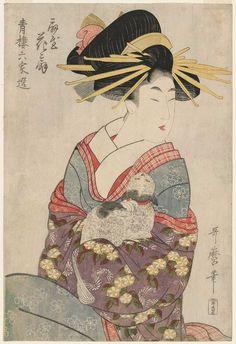 Hanaôgi of the Ôgiya, from the series Selections from Six Houses of the Yoshiwara (Seirô rokkasen) Kitagawa UTAMARO (1753-1806?)