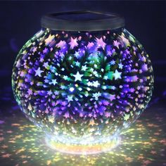 Color Changing Mosaic Solar Light, Pandawill Waterproof/Weatherproof Crystal Glass Globe Ball Light - Compare and Shop The Best Stuff Led Garden Lights, Garden Lamps, Garden Art, Best Solar Lights, Solar Licht, Solar Lamp, Diy Solar, Ball Lights, Glass Garden