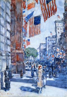 Frederick Childe Hassam: Flags, Fifth Avenue 1918. Dallas Museum of Art