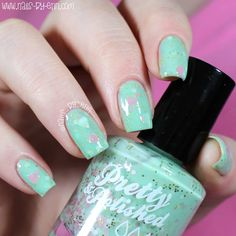 NailsByErin: Pretty & Polished Exclusives from Live Love Polish! Types Of Nails, Live Love, Swatch, Nail Polish, Mint, Nail Art, Valentines, Pretty, Valentine's Day Diy