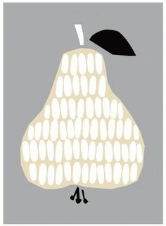 Darling Clementine pear poster 48x68