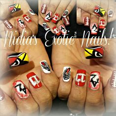 Arizona Cardinals | Nail Tattoo Decal Designs | Pinterest ...