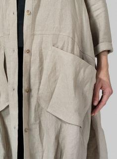 Linen Long Blouse Dress