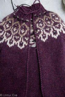 Prjónastelpa tjáir sig: Crochet steeking - Opin lopapeysa en engin saumavél