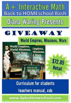 A+ Homeschool : Diana Waring Presents - World Empires, Missions, and Wars Giveaway