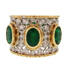 1stdibs | Buccellati Emerald and Diamond Ring