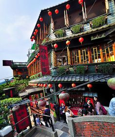 the location which inspired the opening scene of Hayao Miyazaki's Spirited Away | Jiufen, Taiwan 台湾九份