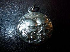 Miau Katze Katzen Anhänger Silber 830 | eBay