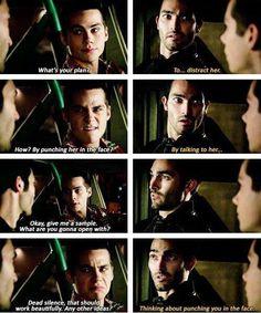 I love Stiles and Derek