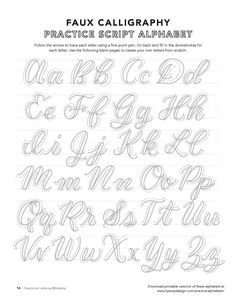 Free Calligraphy Alphabets #calligraphy Free Calligraphy