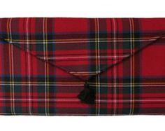 Royal Stewart Tartan Clutch Bag made in Scotland by burningbricht