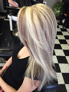 Beautiful long hair with blonde highlights and brown lowlights foiled By Jamie @ Magic Shears in Arlington wa