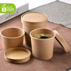Quality disposable food containers takeaway food boxes disposable soup bowl fast food box packaged bowl box paper soup cup(China (Mainland))