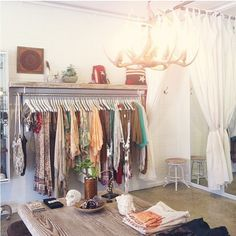 Dream gypsy closet … Photo by spell_byronbay & the Gypsy Collective… Garage Boutique, Boutique Decor, Boutique Interior, Shop Interior Design, Boutique Ideas, Interior Ideas, Shop House Plans, Shop Plans, Gypsy Home