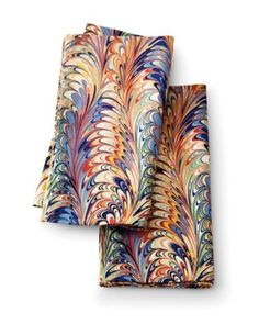 marbleized napkin...niiiice