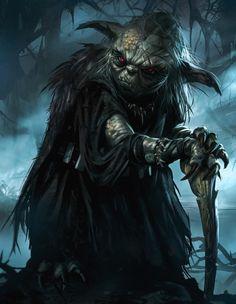 Sith Yoda by Daryl Mandryk. Star Wars Sith, Rpg Star Wars, Star Wars Fan Art, Dark Sith, Darth Yoda, Arte Pink Floyd, Star Wars Zeichnungen, Illustration Fantasy, Images Star Wars