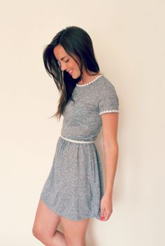 DIY daisy trim dress: for all of the tshirt dresses nae will get this summer
