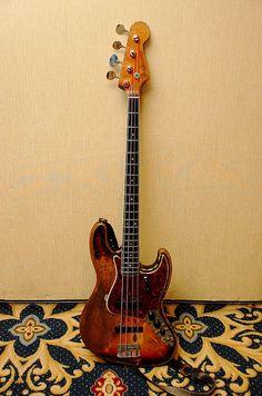Rick's 1966 Fender Jazz Bass - front by Derek K. Miller, via Flickr
