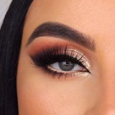 Eye Makeup Steps, Makeup Eye Looks, Eye Makeup Art, Eyebrow Makeup, Skin Makeup, Eyeshadow Makeup, Simple Eyeshadow Looks, Brown Smokey Eye Makeup, Contour Makeup
