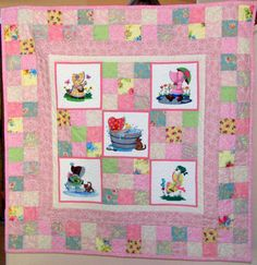 i love this Sunbonnet Sue quilt that combines machine embroidering with quilting!