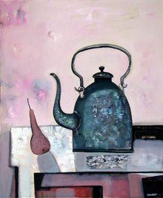 Teapot by Tatiana Gorshunova, 2002, oil on canvas