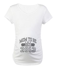 White 'Mom-to-Be' June Maternity Short-Sleeve Tee | Daily deals for moms, babies and kids