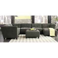 Granite Upholstered 6-Piece Sectional RC Willey