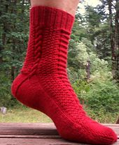 Ravelry: Ropes and Cobblestones Socks pattern by Terry Morris