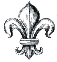 The Fleur-de-Lys is a stylized lily that is used as a decorative design or symbol. Description from sarahjenkins.glogster.com. I searched for this on bing.com/images