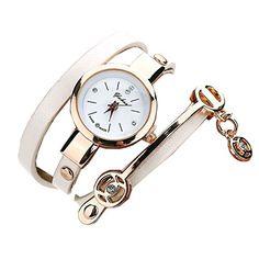 Ularma Damen Armbanduhr Mode Exquisit Armband Analog Quarz Uhr Weißes Zifferblatt weiß Band - http://uhr.haus/ularma/ularma-damen-armbanduhr-mode-exquisit-armband-4
