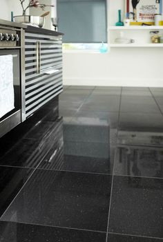 Granite-bathroom floor- Very hard stone containing granules and ...
