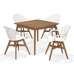 Buy John Lewis Oslo Square Dining Table 4 Chairs FSC Certified
