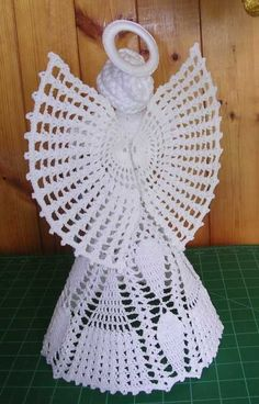 Crochet Angel Pattern ~ Understand More Advice for Brilliant 43 Pictures Crochet Angel Pattern Regarding Distinctive Lacy Crochet Crochet Angels On Crochet Angel Pattern Crochet Christmas Decorations, Christmas Angel Ornaments, Christmas Crochet Patterns, Crochet Ornaments, Crochet Snowflakes, Holiday Crochet, Christmas Christmas, Crochet Angel Pattern, Crochet Angels