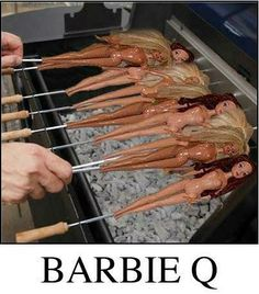 Barbie Q Literally Barbie Life, Bad Barbie, Barbie Dolls, The Funny, Funny Pics, Funny Pictures, Freaking Hilarious, Funny Images, Barbie Funny