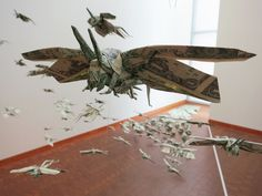 Swarm of Locusts Made of Money