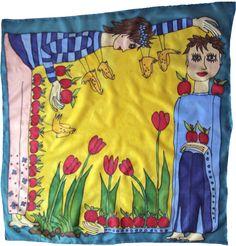 Šatka -obrázok do detskej izby na zarámovanie Silk Painting, Trunks, Swimming, Swimwear, Fashion, Drift Wood, Swim, Bathing Suits, Moda